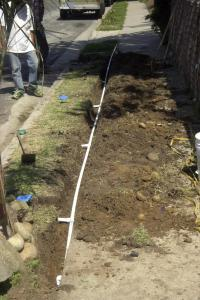 a pipe line was changed by our irrigation repair in Miami pros